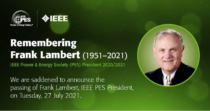 Frank Lambert passed away